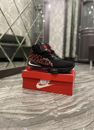 Nike lebron 17 black red