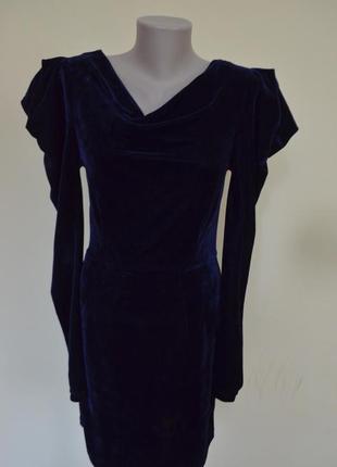 Очень красивое элегантное бархатное платье длинный рукав от asos