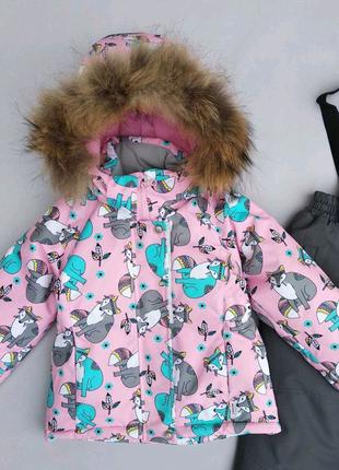 Зимний термо костюм комбинезон lassye для девочки.
