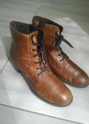 Кожаные ботинки Rieker
