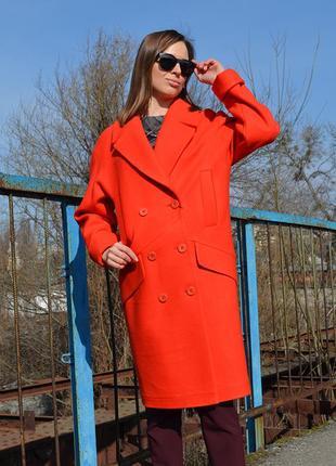 Скидка пальто-кокон 44-50 свободного кроя