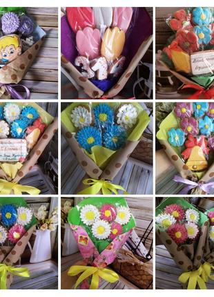 Пряничные букеты, цветы
