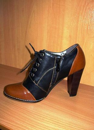 Туфли высокие женские на устойчивом каблуке