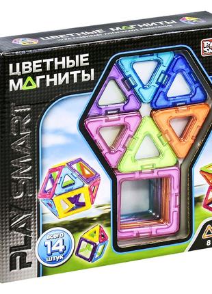 """Магнитный конструктор """"Цветные магниты"""" (14 деталей)"""