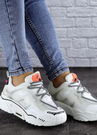 Кроссовки женские белые, жіночі кросівки, кроссовки на платформі