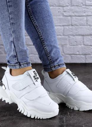 Кроссовки женские белые, жіночі кросівки, кроссовки на липучках