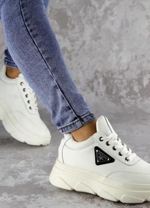 Кроссовки женские белые, жіночі кросівки, кроссовки на платформе