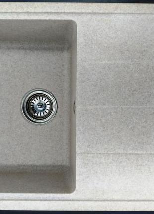 Кухонная гранитная мойка с крылом JM 34-1.