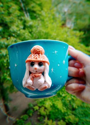 Чашка из полимерной глины