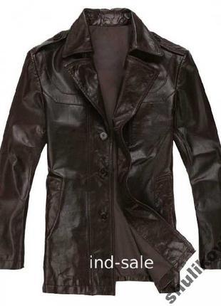 Мужская куртка натуральная кожа XXXL (Индия)