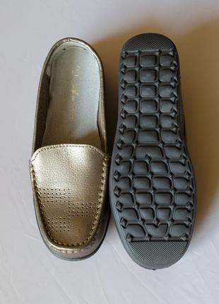 Супер цена! кожаные мокасины украина бронзовые с перфорацией н...