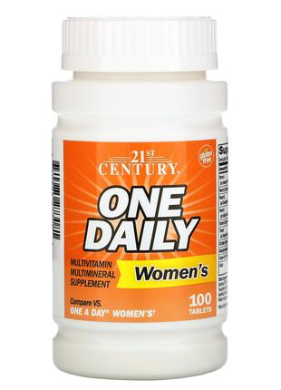 Мультивитамины One Daily, для женщин, 100 таблеток 21st Century