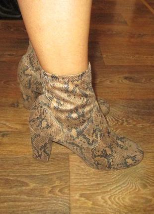 Эффектные ботинки сапоги чулки
