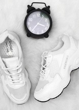 Хит! модные белые кроссовки violeta 37р