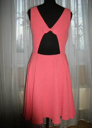 Платье mohito розовое с вырезом на спине 40 42