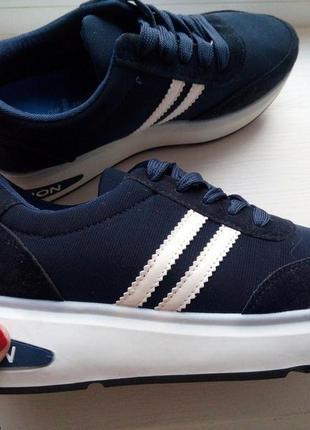 Кроссовки синие на платформе 36-40р