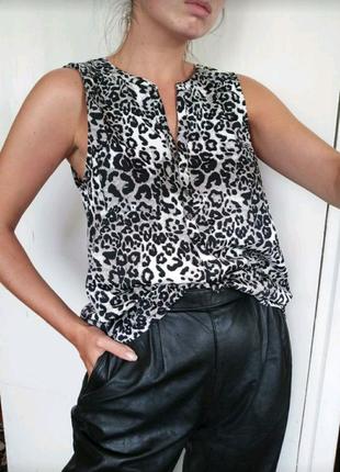 Майка блузка с леопардовым принтом