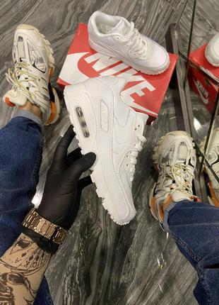Мужские кроссовки 🔺nike air max 90 full white🔺