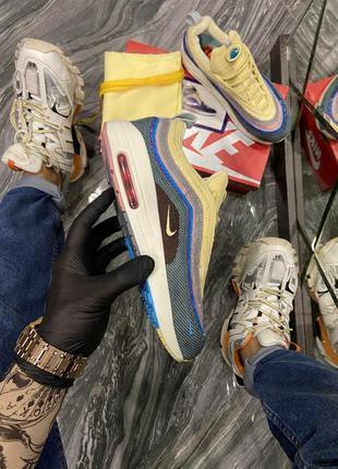 Мужские кроссовки 🔺nike air max 97/1 yellow blue🔺