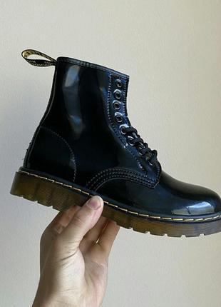 Ботинки dr. martens 1460 fur patent черевики