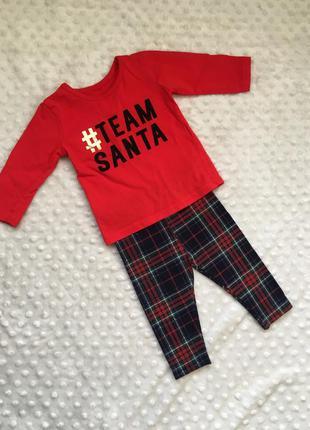 Новогодний костюм,наряд на новый год, красная кофта, лосины в ...