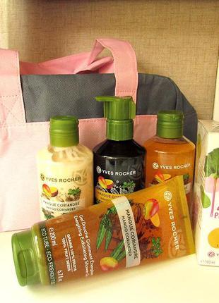 Подарочный набор с косметичкой манго - кориандр косметика ив р...