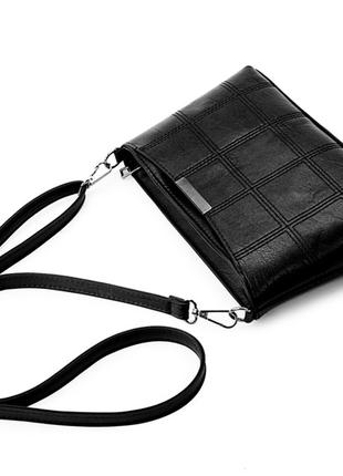 Небольшая женская сумка черная, бордовая
