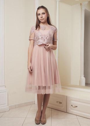 Нарядное платье 36-40 размера ниже колена
