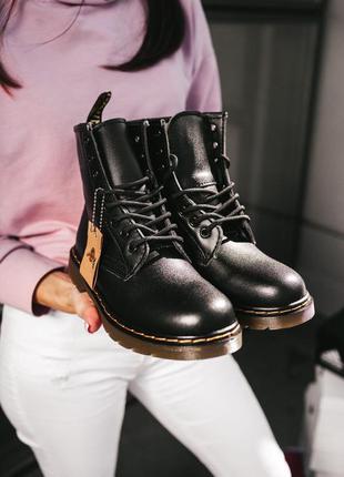 Dr.martens 1460 black шикарные женские кожаные зимние ботинки ...