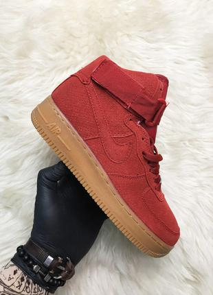 Кроссовки Nike Air Force Suede Mid Red