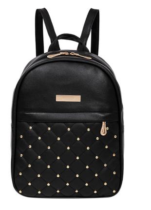 Стильный женский рюкзак черный, розовый