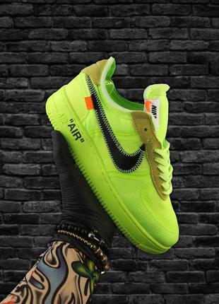 Кроссовки Nike Air Force 1 Low Off-White Green