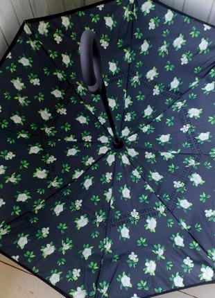 """Зонт наоборот """"летние цветы"""""""