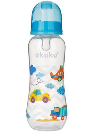 Бутылка стандартная 250 мл с силиконовой соской 0м+