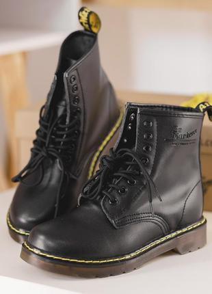 Dr.martens 1460 black  женские кожаные осенние ботинки без меха 😍