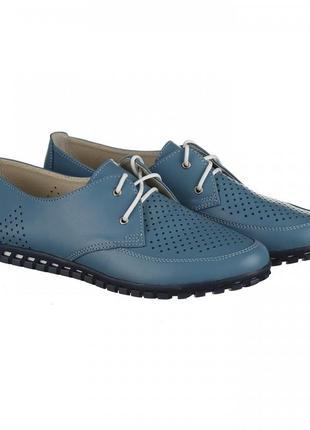 Кожаные туфли мокасины на шнурках 36-41р черные, белые, красны...