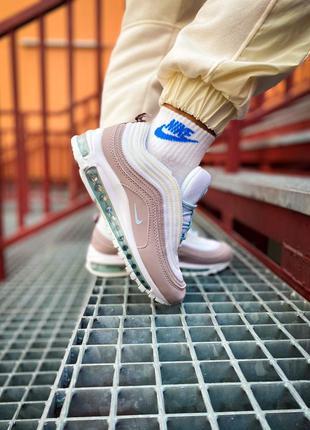 Кросівки nike air max 97 pink/white кроссовки