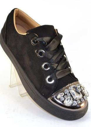 Стильные замшевые велюровые слипоны кеды 35-41р черные, серые ...