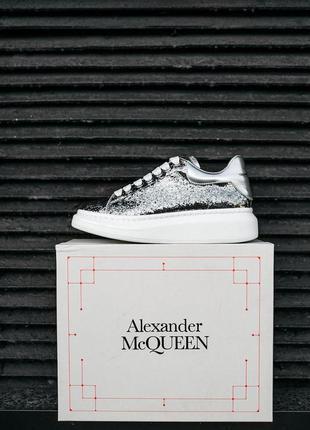 "Кроссовки alexander mcqueen ""leather-trimmed glitter"" cod: 0307"
