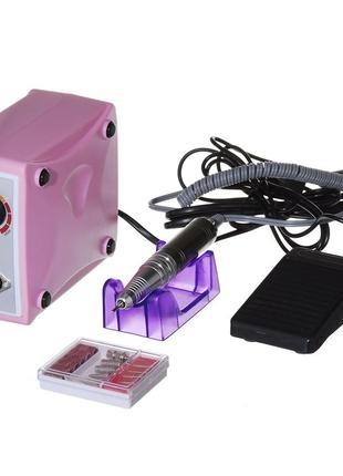 Фрезер для маникюра nail drill zs-701 на 35000 об/мин розовый