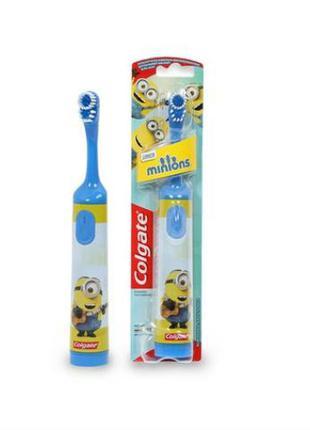 Детская электрическая зубная щетка  Colgate миньоны  Minion Blue