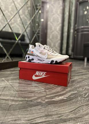 Nike react off-white white