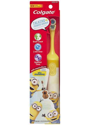 Детская электрическая зубная щетка Миньйон Interactive желтая Min