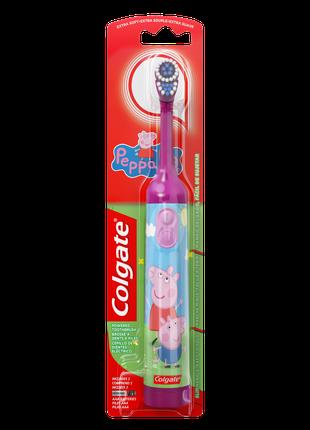 Детская электрическая зубная щетка Colgate «Свинка Пеппа» сиренев