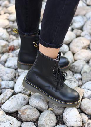 Dr.martens 1460 black ✰ женские кожаные осенние ботинки ✰ черн...