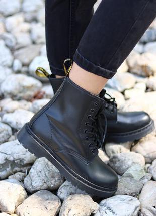Dr.martens 1460 mono black ✰ женские кожаные осенние ботинки ✰...