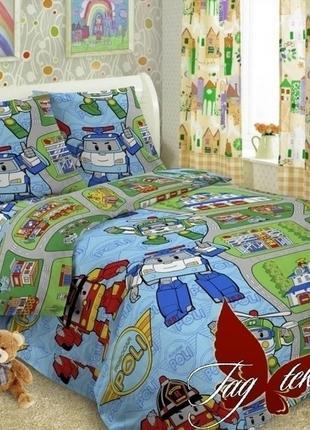 1,5-спальный комплект постельного белья детский tag поплин пол...