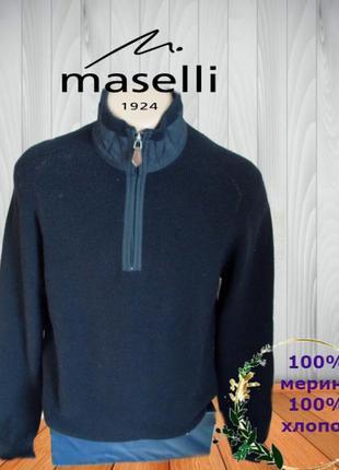 ✨✨maselli 100% мерино элегантный стильный мужской свитер на за...
