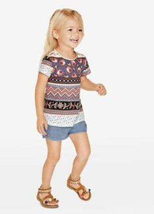 Красивая стильная яркая футболка lupilu 4-6 лет