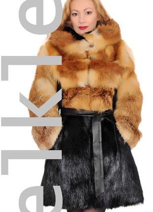 Шуба меховое пальто elkle